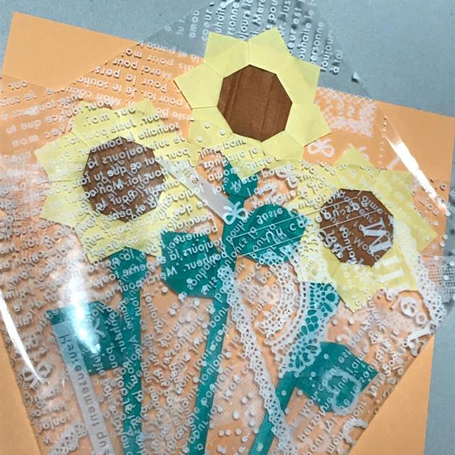 記念日 父の日 プレゼント ハンドメイド 花束 折り紙 ひまわり ハンドメイドのハンドメイド その他(その他