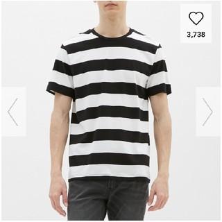 ジーユー(GU)のGU ワイドボーダー クルーネックT(Tシャツ/カットソー(半袖/袖なし))