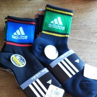 アディダス(adidas)のアディダス 靴下 23~25センチ 6足 ジュニア キッズ(靴下/タイツ)