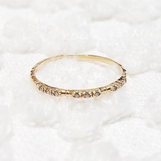SIENA  シエナ K10 YG ダイヤリング agete ノジェス好きな方も(リング(指輪))