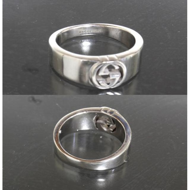 Gucci(グッチ)のグッチ GUCCI ダブル Gロゴ シルバー リング 21号 SV925 仕上済 メンズのアクセサリー(リング(指輪))の商品写真