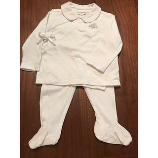 ラルフローレン(Ralph Lauren)のラルフローレンベイビー 白ツーピースドレス 6m(カバーオール)