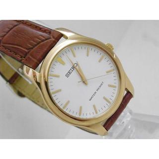 56d34c865b セイコー(SEIKO)のSEIKO 腕時計 ゴールド ホワイトダイアル ラウンド(腕時計(アナログ)