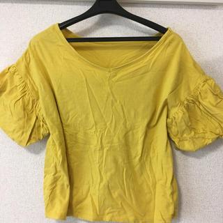 ジーユー(GU)のフリルブラウス Vネック 2way(シャツ/ブラウス(半袖/袖なし))