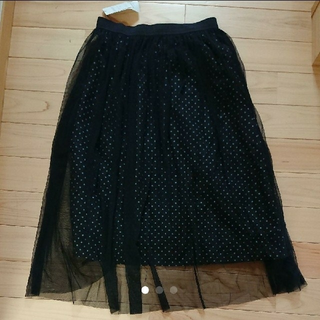 THE EMPORIUM(ジエンポリアム)のメロリ~ナ様専用 レディース エンポリアム チュールロングスカート ドット レディースのスカート(ロングスカート)の商品写真