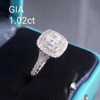 GIA♡1.02ctホワイトダイヤモンドリング(リング(指輪))