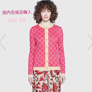 グッチ(Gucci)のGUCCI GGジャガードコットンカーディガン size XS【新品】完売 💕(ニット/セーター)