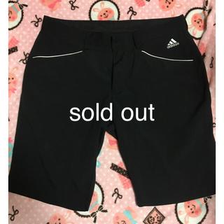 アディダス(adidas)のadidas ゴルフウェア ハーフパンツ メンズ 黒(ウエア)