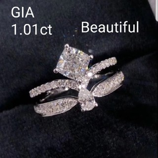 GIA♡1.01ctホワイトダイヤモンドリング(リング(指輪))