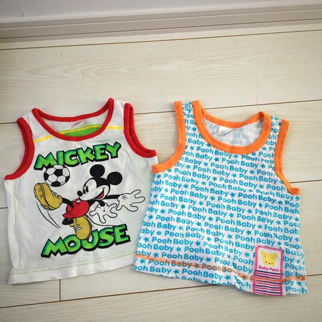 Disney(ディズニー)のディズニー タンクトップ 2枚セット キッズ/ベビー/マタニティのベビー服(~85cm)(タンクトップ/キャミソール)の商品写真