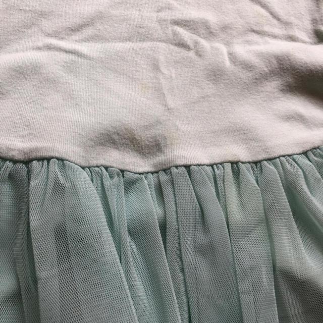 韓国子供服ミントグリーンノースリチュールチュニックトップス☆7サイズ キッズ/ベビー/マタニティのキッズ服 女の子用(90cm~)(ワンピース)の商品写真