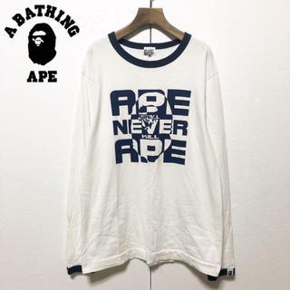 アベイシングエイプ(A BATHING APE)のA BATHING APE×Kaws/希少 限定モデル L/Sカットソー M(Tシャツ/カットソー(七分/長袖))