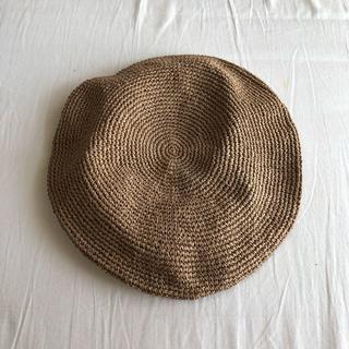 CA4LA - CA4LA ストロー素材 ベレー帽