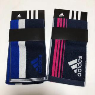 アディダス(adidas)の送無 アディダス タオル スリムロングタオル スポーツタオル 2枚セット(トレーニング用品)
