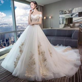 73ccc09e0df28 ウエディングドレス ホワイト ウェディング パーティードレス 結婚式 花嫁ドレス(ウェディングドレス)