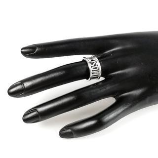 モスキーノ(MOSCHINO)の美品 モスキーノ シルバー ロゴ リング 12号 UI45(リング(指輪))