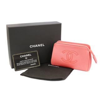 26f4fb9e9437 シャネル(CHANEL)のCHANEL ココマーク コスメポーチ ピンク系 27番台 A0994(