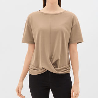 ジーユー(GU)の新品未使用タグ付き★gu フロントツイストT(Tシャツ(半袖/袖なし))
