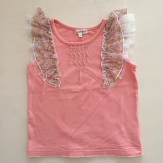 サンカンシオン(3can4on)の3can4on 花柄フリルカットソー ピンク(Tシャツ/カットソー)