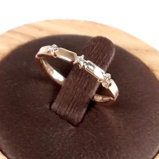 スタージュエリー(STAR JEWELRY)の美品 スタージュエリー 3P ダイヤモンド リング UI46(リング(指輪))