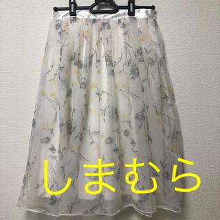 しまむら - しまむら 花柄チュールスカート