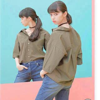 ジーユー(GU)のGU♡オーバーサイズワイドスリーブシャツ(シャツ/ブラウス(半袖/袖なし))