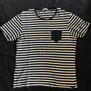 ジーユー(GU)のGUジーユー☆ボーダー☆半袖Tシャツメンズ子供服(Tシャツ/カットソー(半袖/袖なし))