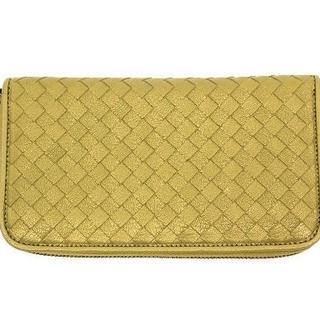 ボッテガヴェネタ(Bottega Veneta)の新品 ボッテガヴェネタ イエロー 長財布(財布)