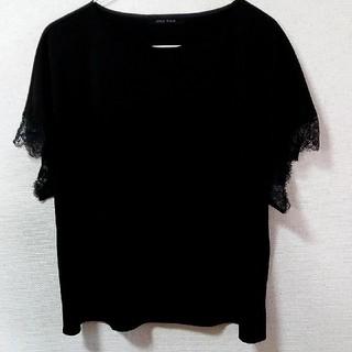 黒 ブラウス(シャツ/ブラウス(半袖/袖なし))