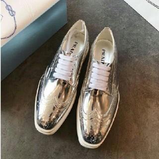 プラダ(PRADA)のプラダ 靴(ローファー/革靴)