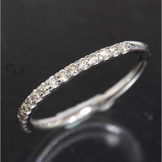 0.15ct ダイヤモンド ハーフエタニティ リング 9号 K10WG 新品仕上(リング(指輪))