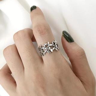 シルバー925 フラワーリング 透し彫り 指輪 シルバーリング 花 モチーフ(リング(指輪))