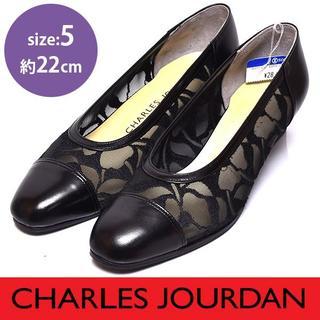 シャルルジョルダン(CHARLES JOURDAN)の新品❤️シャルルジョルダン レース ヒールパンプス 5(約22cm)(ハイヒール/パンプス)