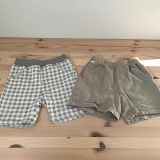 ユニクロ(UNIQLO)のユニクロ ハーフパンツ 半ズボン 2枚セット 80(パンツ)
