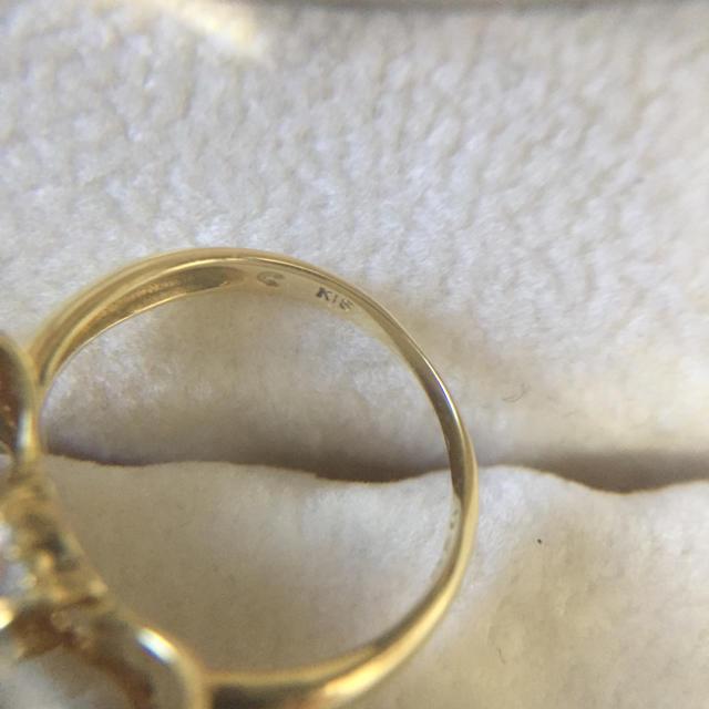K18 YG リボンリング レディースのアクセサリー(リング(指輪))の商品写真