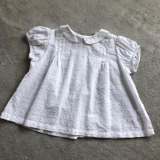 073bbbb77f067 キャラメルベビー チャイルド(Caramel baby child )のlittle cotton clothes パフスリーブブラウス 18-