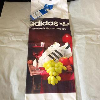 アディダス(adidas)のアディダス Tシャツ 新品 未使用 サイズO ホワイト(Tシャツ/カットソー(半袖/袖なし))