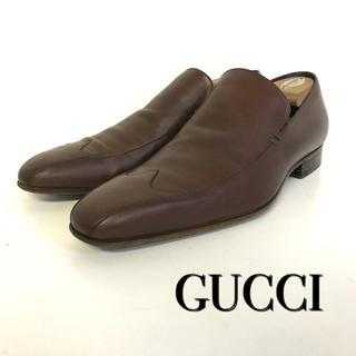 グッチ(Gucci)の美品 GUCCI レザー ドレスシューズ ブラウン系(ドレス/ビジネス)