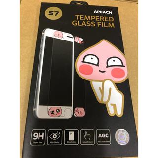 iPhone - アピーチiPhone7用ガラスフィルム・ホームボタンシール