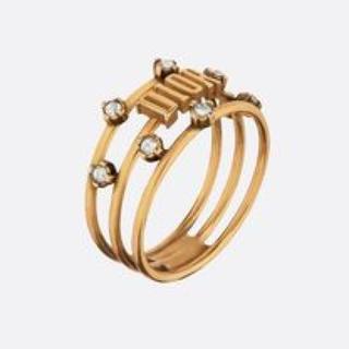 クリスチャンディオール(Christian Dior)のdior evolution ロゴクリスタルリング(リング(指輪))