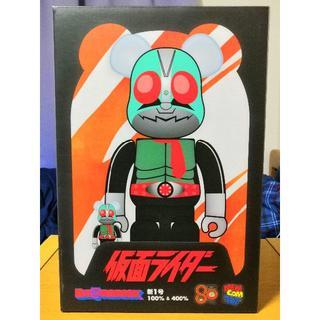 メディコムトイ(MEDICOM TOY)の横浜そごう購入 BE@RBRICK 仮面ライダー新1号 100%+400% (キャラクターグッズ)