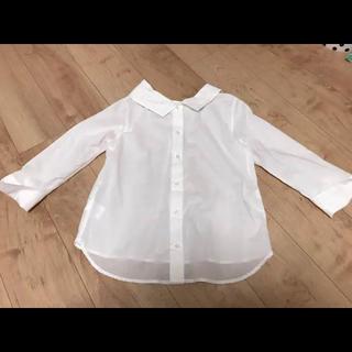 Simplicite - ブラウス ホワイト リバーシブル ロール襟