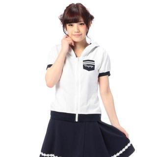 リズリサ(LIZ LISA)のLIZ LISA☆新品♪Tralala*フード&セーラー襟2way配色パーカー(パーカー)