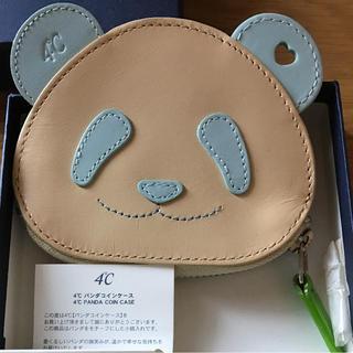 ヨンドシー(4℃)の4℃ パンダコインケース  水色 外箱付属 未使用品 ANA 中国 機内販売限定(コインケース)
