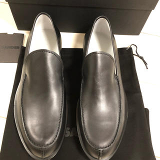ジルサンダー(Jil Sander)のジルサンダー  新品 レザーシューズ ローファー 41 黒(ドレス/ビジネス)