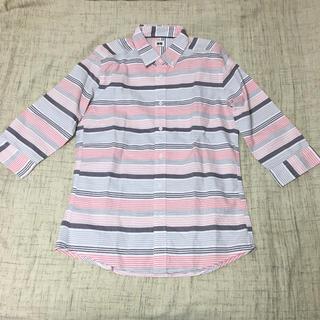 ユニクロ(UNIQLO)の☆★新品未使用★☆ユニクロ 半端丈 ボーダーシャツ Mサイズ(シャツ)