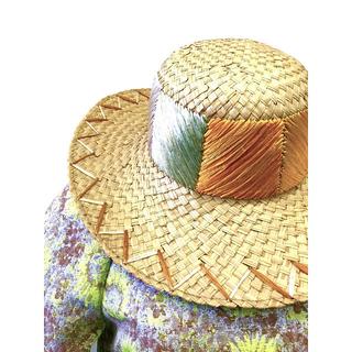 アッシュペーフランス(H.P.FRANCE)のカラフル麦わら帽(麦わら帽子/ストローハット)