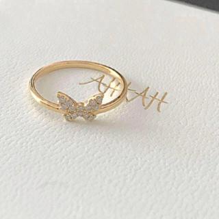 アーカー(AHKAH)の売り切り❗️AHKAH バタフライパヴェリング(リング(指輪))