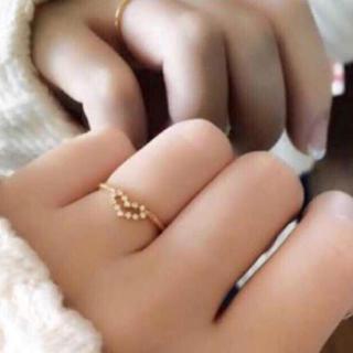 アーカー(AHKAH)のお値下げ❗️AHKAH ビリーブハートノエルリング(リング(指輪))