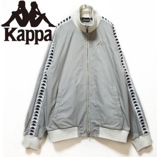 カッパ(Kappa)のKAPPA 刺繍ロゴ ラインロゴ 袖ロゴ ブルゾン グレー(ブルゾン)